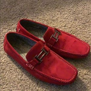 Red Faranzi Moccasins Great Condition Only wore 2